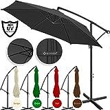Kesser Alu Ampelschirm Ø 300 cm mit Kurbelvorrichtung UV-Schutz Aluminium Wasserabweisende Bespannung - Sonnenschirm Schirm Gartenschirm Marktschirm