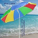 Sonnenschirm 180cm Strandschirm Balkonschirm Schirm Regenbogen Regenbogenfarben