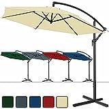 Deuba Alu Ampelschirm Ø 300 cm, höhenverstellbar mit Kurbelvorrichtung - Sonnenschirm Schirm Gartenschirm Marktschirm