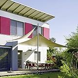 CelinaSun Sonnensegel, Sonnenschutz Garten Balkon und Terrasse PES Polyester Wetterschutz wasserabweisend imprägniert Schattenspender Quadrat