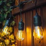 Außen LED Lichterkette - IP65 Wasserdicht Glühbirnen Lichterkette 10M Outdoor Lichterkette mit 10X2W Led Bulbs S14 Lichterkette Außen Retro Warmweiß 2700K Beleuchtung für Innen Balkon Party Garten