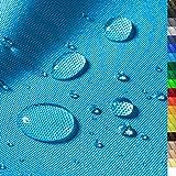 1buy3 'Monaco Wasserdichter Polyester Stoff | 12.000 mm Wassersäule | Farbe 14 | Türkis | Polyester Stoff 160cm breit Meterware wasserdicht Outdoor extrem reissfest